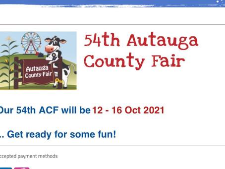 Headed to Autauga County Fair tonight October 12, 2021