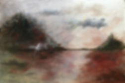 Feathe In the Wind, acrylic landscape painting