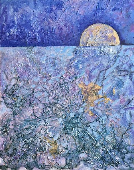 Moon, blue, Moonlight