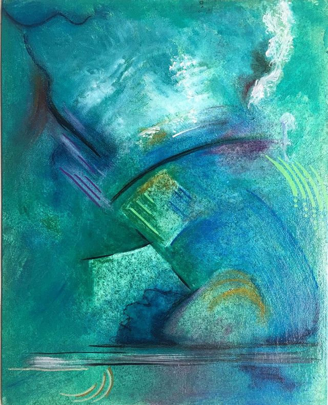Abstract, Blues and Greens