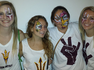"""ASU First """"White Out"""" Game Painting"""