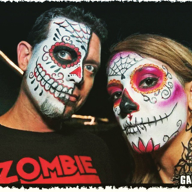 Day Of The Dead Face Art Painting