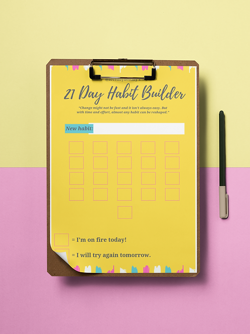 Printable Habit Building Tracker