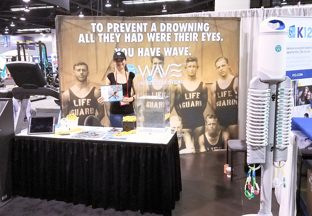 WAVE Drowning Detection Exhibit Booth