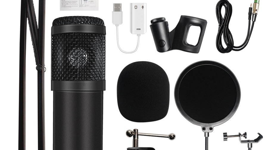 Microphone  Studio Microphone Condenser Sound Recording Microphone for Computer