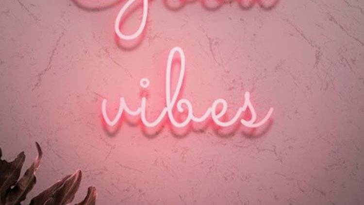 Neon Sign for Good Vibes Neon Light