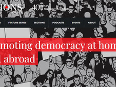 Promoting democracy at home and abroad