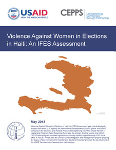 Violence Against Women in Elections in Haiti: An IFES Assessment