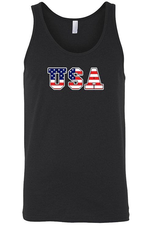 USA Flag Tank Top Shirt United States Pride Men's