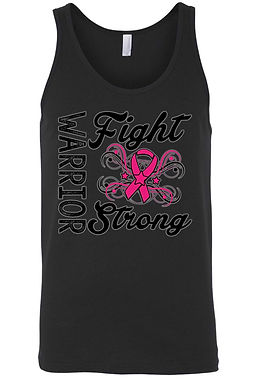Men's Tank Top Breast Cancer Awareness Warriors Fight Strong