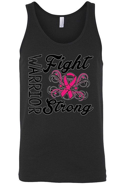 Men's Tank Top Breast Cancer Awareness Warriors Fight Strong