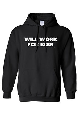 Men's/Unisex Pullover Hoodie Will Work for BEER