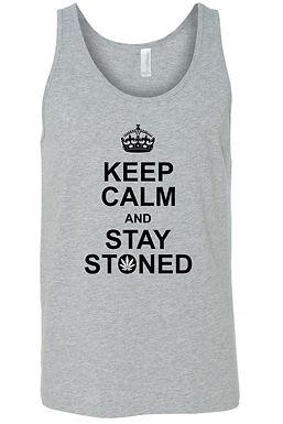 Men's Keep Calm & Stay Stoned Tank Top Shirt