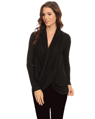 Women's Long Sleeve Criss Cross Cardigan Small to 3XL Athleisure Made in USA