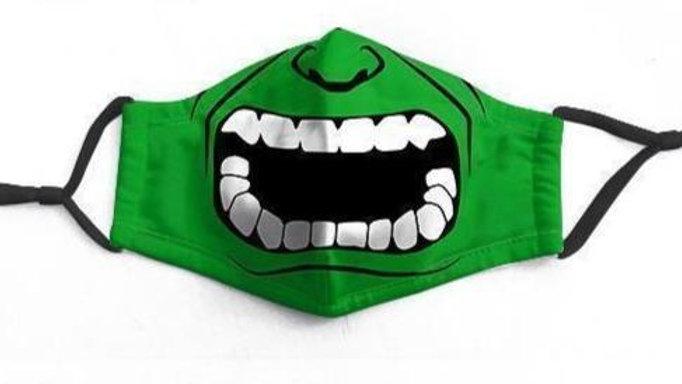 Green Hulk Character Washable Face-Mask - RTS