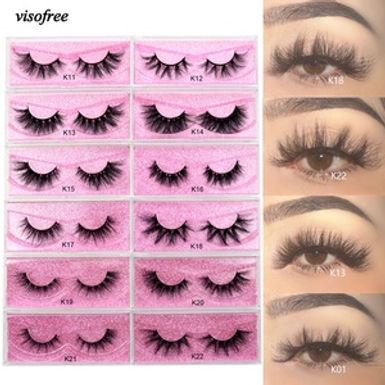 Visofree 5D Mink Eyelashes Long Lasting Mink Lashes Natural Dramatic Volume