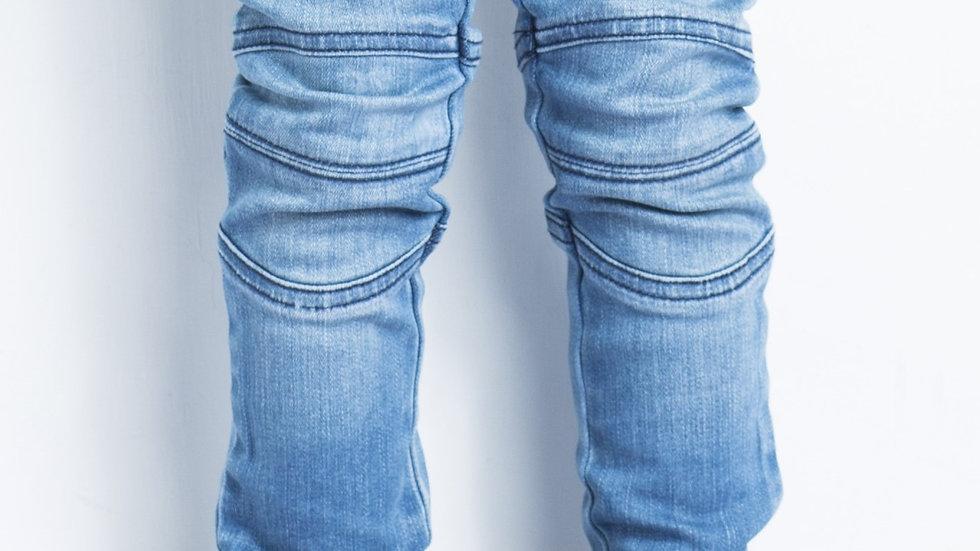 Biker Jeans Light Wash