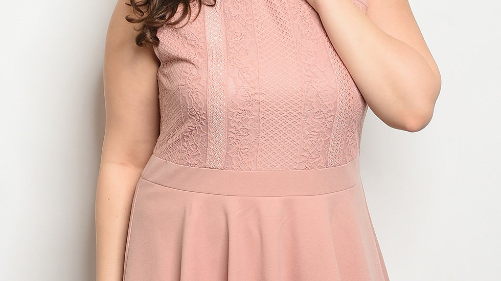 Mauve Plus Size Dress