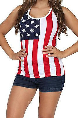 USA Flag Tank Top Ladies