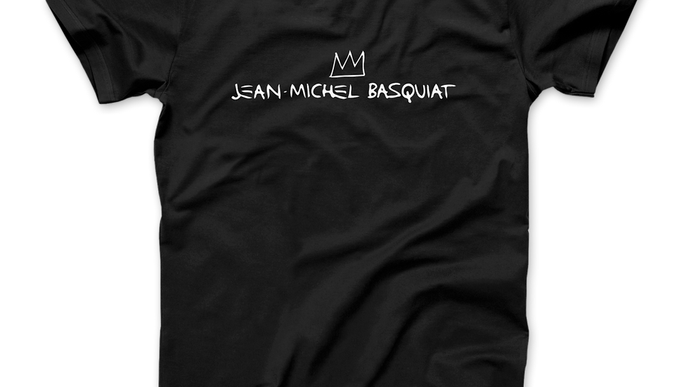 Jean-Michel Basquiat Signature With Crown T-Shirt