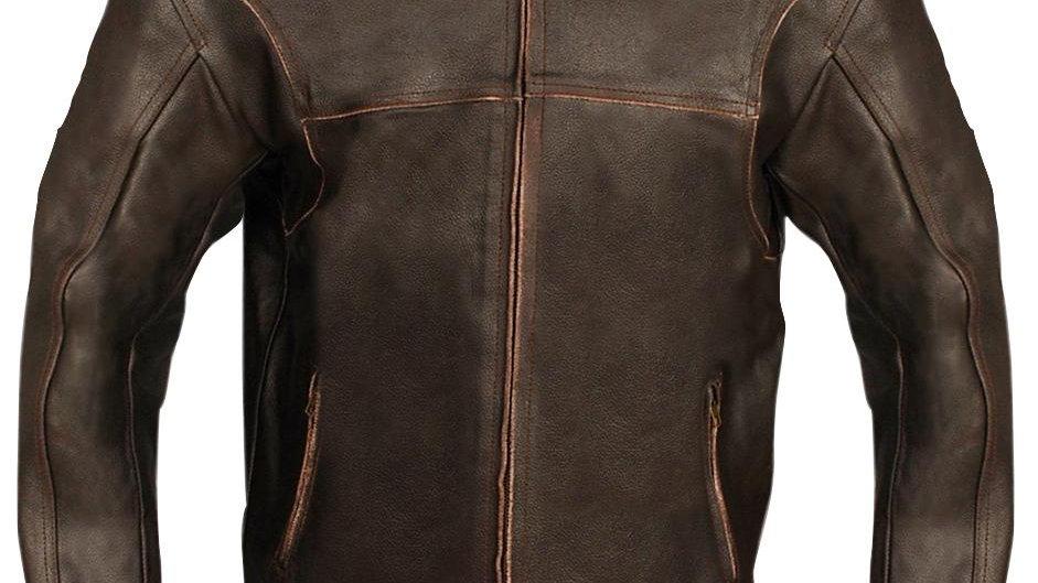 Brown Biker Genuine Leather Jacket