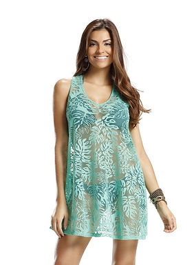 Sheer Beach Cover Up Dress - Parati