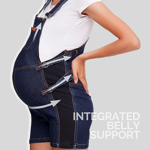 Belly Support Maternity Overall - Short