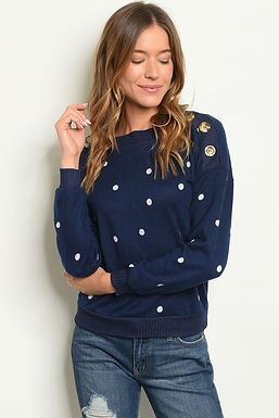 Shop the Trends Womens Dots Top