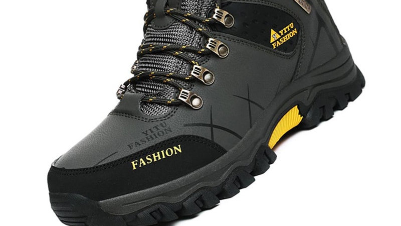 Men's Winter Boots Warm Leather Waterproof  Breathable Hiking Boots Work Shoes