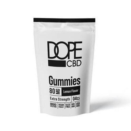 Dope CBD - CBD Edible - Extra Strength Lemon Gummies - 80mg
