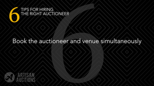 book the auctioneer and venue simultaneously