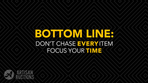 bottom line: don't chase every item, focus your time