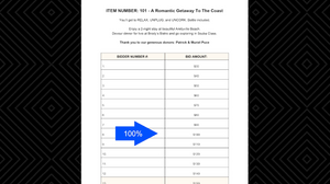 Silent Auction Profitable Bid Sheets actual retail value