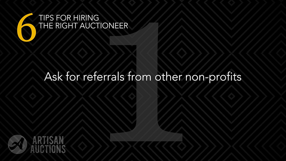 ask for referrals from other nonprofits