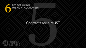 contracts are a must