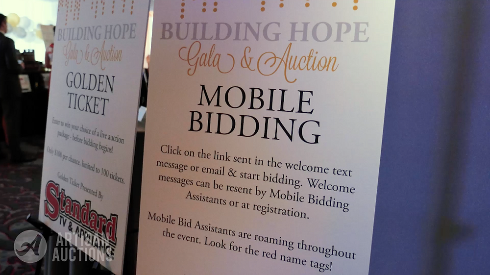 thumbnail silent auction mobile bidding poster