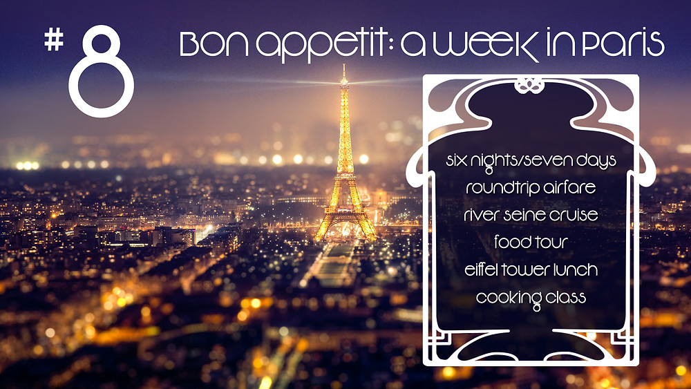 Live Auction Package 8 a week in paris