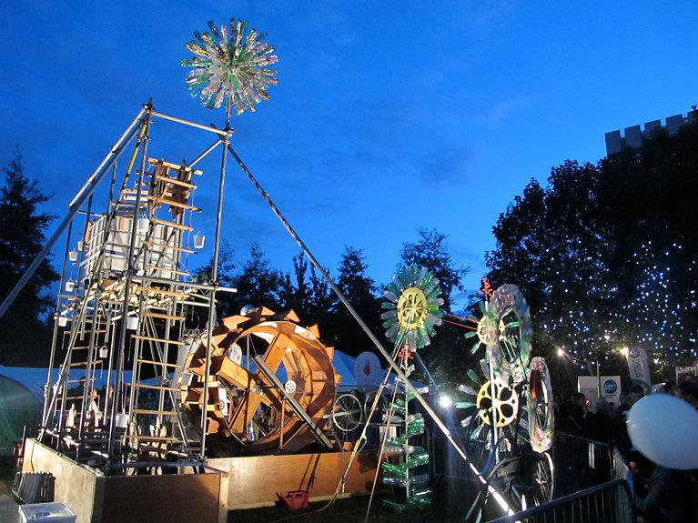 waterwheel thames festival installation.