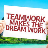 Teamwork Makes the Dream Work card with