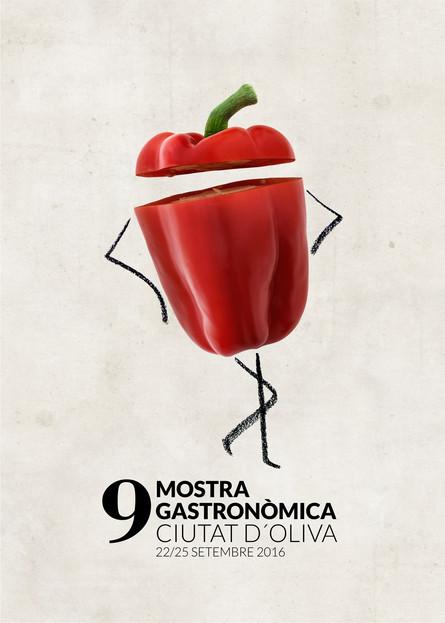 Cartell 9 Mostra Gastronòmica d'Oliva