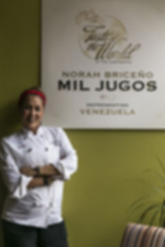 Norah Briceno Mil Jugos Venezuelan restaurant
