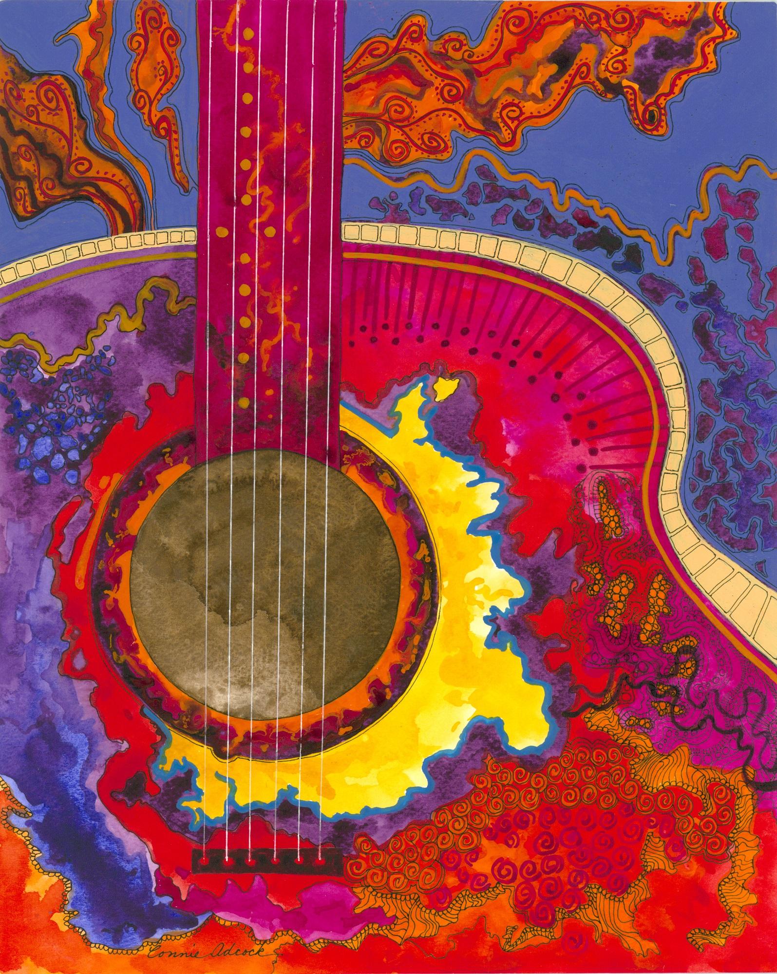 Molten Rock Guitar