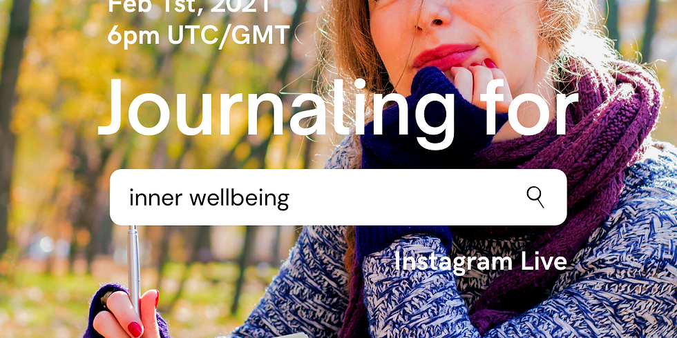 Journaling for Wellbeing - Instagram Live