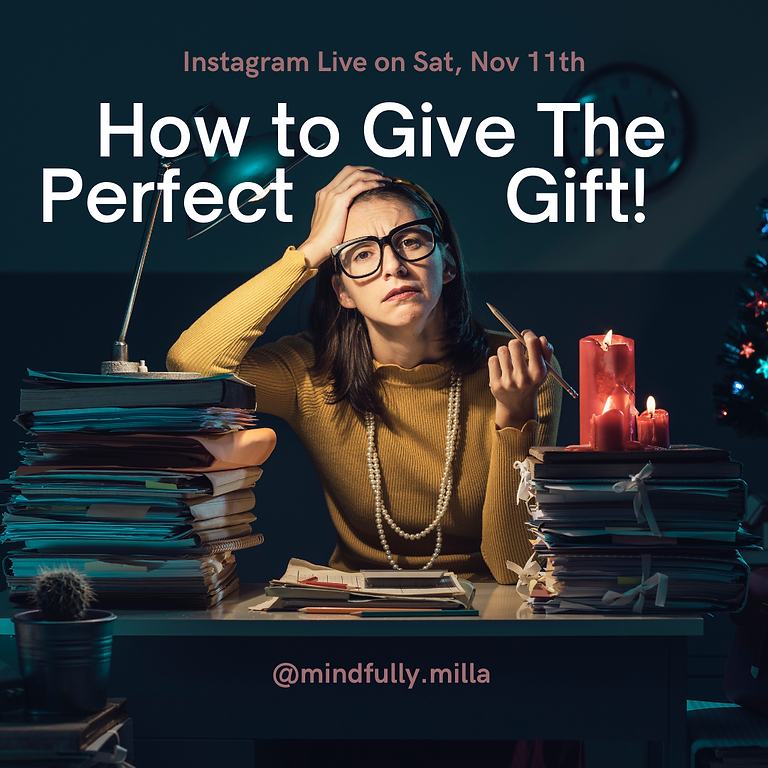Instagram Live - How to Give the Perfect Gift this Christmas