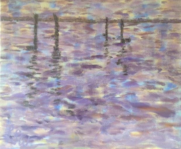 "The Old Sheep Bridge, Acrylic on canvas, 23"" x 19"""