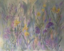 "Heaven Scent Acrylic on canvas,  30"" x 24"""