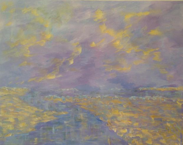 """Across the Bar Acrylic on canvas, 30"""" x 24"""""""