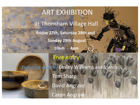 Lesley Williams and friends at Thornham Village Hall