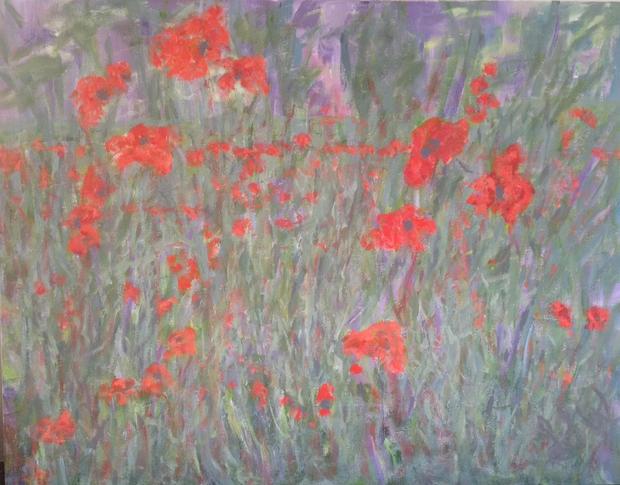 Impressions II, Acrylic on canvas,  76cm x 60cm
