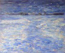"""Evening Sail I Acrylic on canvas,  23"""" x 19"""""""